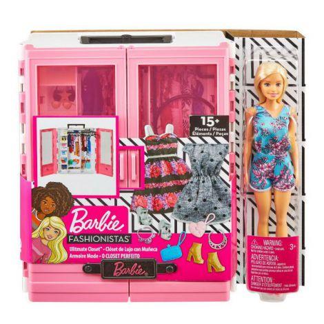 Barbie Dulapior Cu Hainute Si Papusa