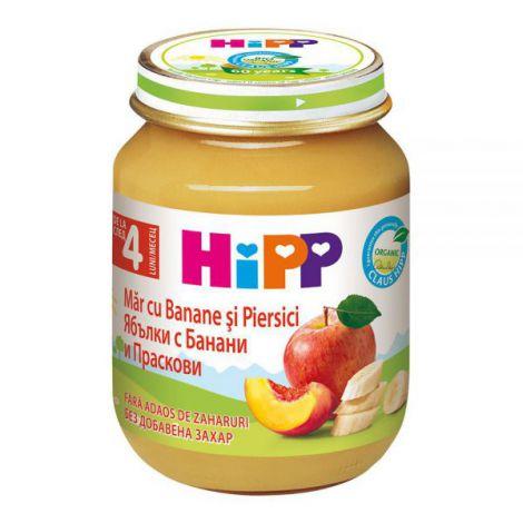 Piure HiPP banane, piersici si mere 125g
