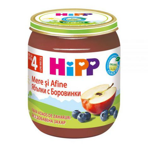 Piure HiPP mere si afine 125g