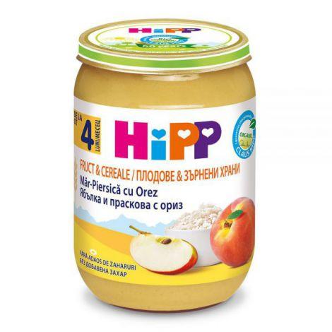 Piure HiPP Fruct&Cereale piersica-mar cu orez 190g