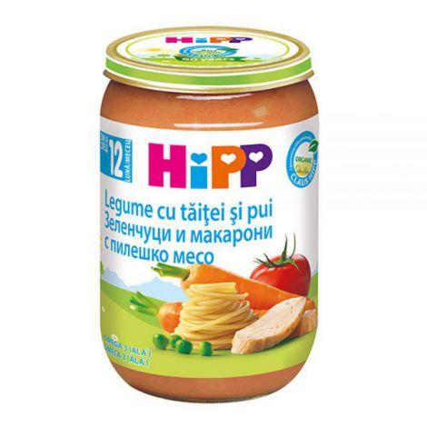 Meniu HiPP pui cu legume si Taitei 220g