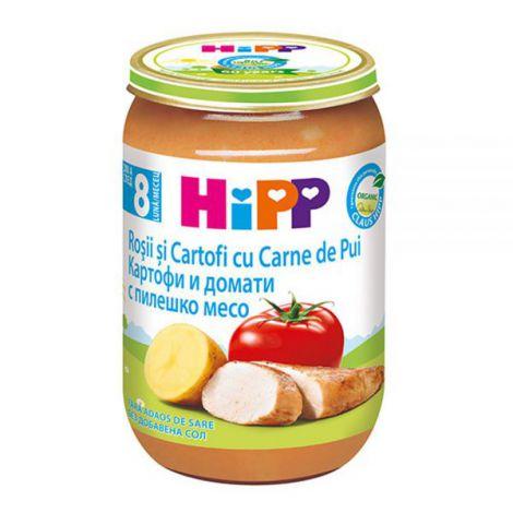 Meniu HiPP pui cu rosii si cartofi 220g