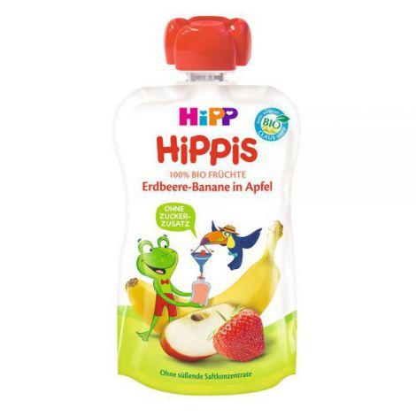 Piure HiPP Hippis mar, capsuni, banana 100g