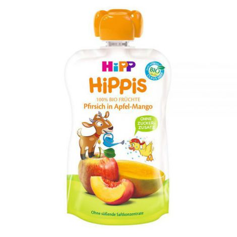 Piure Hipp Hippis Mar, Mango, Piersica 100g imagine