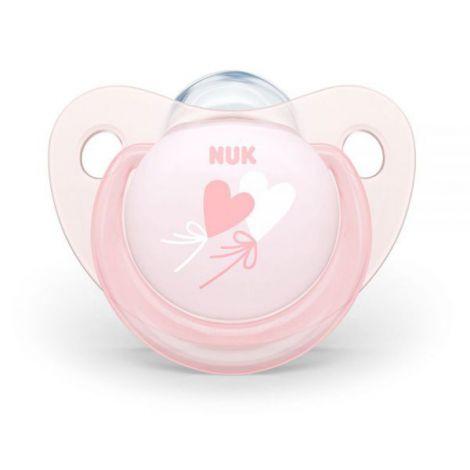 Suzeta Nuk Baby Rose Silicon M1 Baloane 0-6 luni