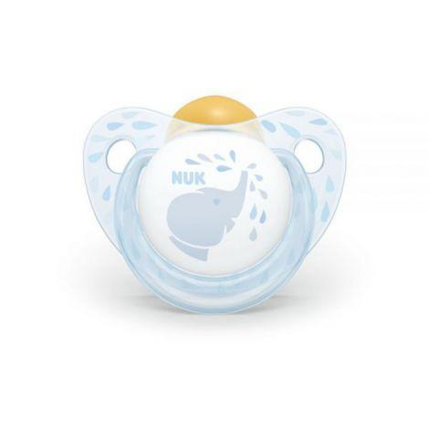 Suzeta Nuk Baby Blue Latex M1 Elefant 0-6 luni