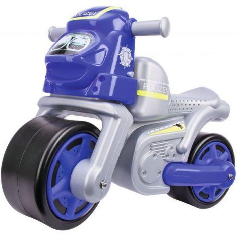Big Premergator Motocicleta De Politie Cu Roti Din Cauciuc