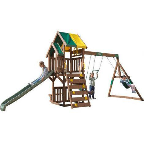 Complex de joaca din lemn de cedru Arbor Crest Deluxe Kidkraft