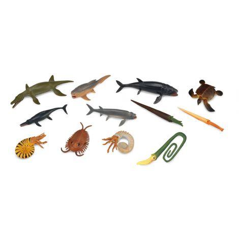 Cutie cu 12 minifigurine Animale marine preistorice