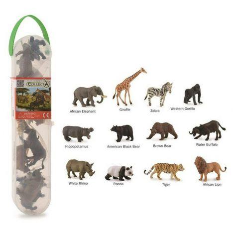 Cutie cu 12 minifigurine Animale salbatice