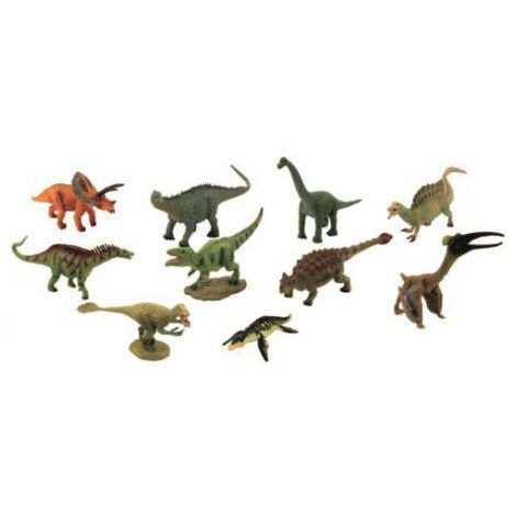 Cutie cu 10 minifigurine Dinozauri set 2