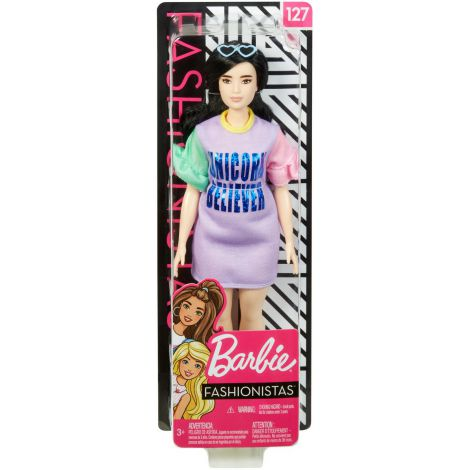 Papusa Barbie Fashionista Cu Rochita Unicorn Believer