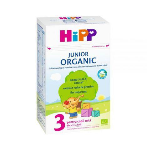 Lapte Hipp 3 Organic Junior 500g imagine