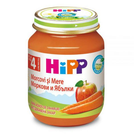 Piure Hipp Mere Si Morcovi 125g imagine