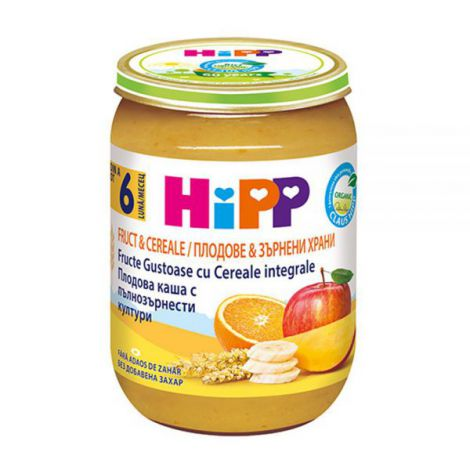 Piure Hipp Fruct&Cereale Fructe Gustoase 190g imagine