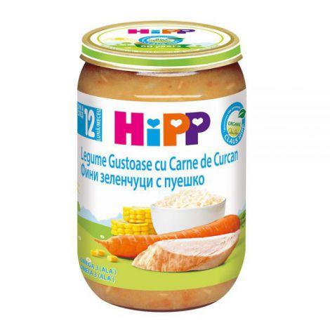 Meniu HiPP curcan cu legume 220g