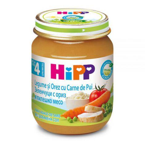 Meniu HiPP pui cu orez si legume 125g