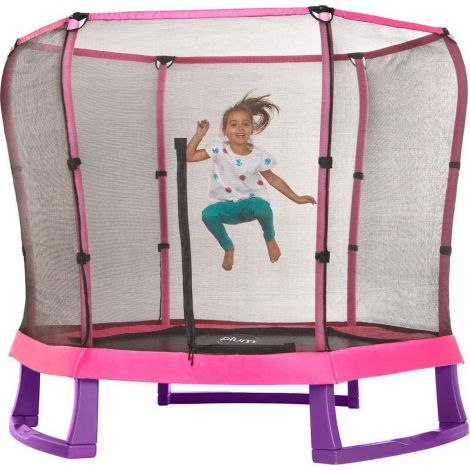 Set trambulina copii cu plasa de protectie Junior Pink Purple 7FT PLUM