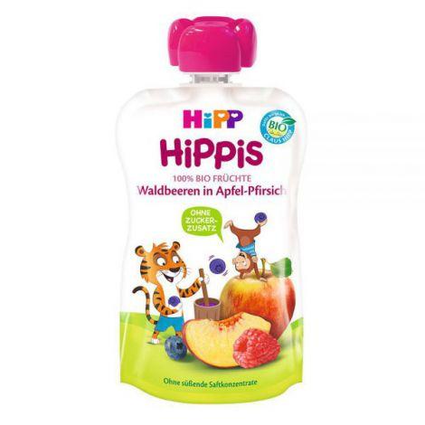 Piure Hipp Hippis Mar, Piersica, Fructe De Padure 100g imagine