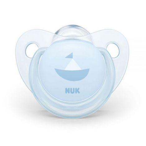 Suzeta Nuk Baby Blue Silicon M1 Barcuta 0-6 Luni imagine
