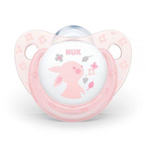 Suzeta Nuk Baby Rose Silicon M2 Iepuras 6-18 luni