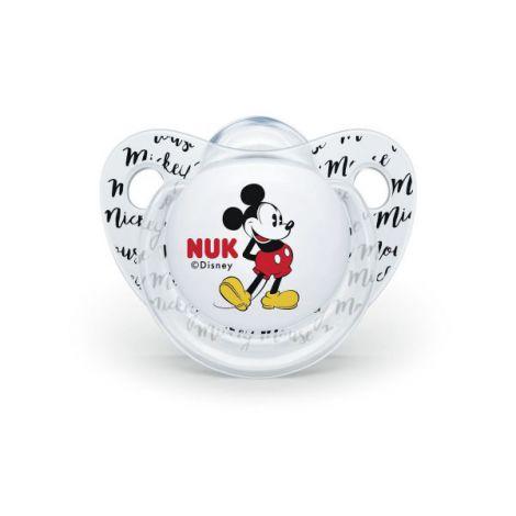 Suzeta Nuk Mickey Silicon M2 Transparent 6-18 luni