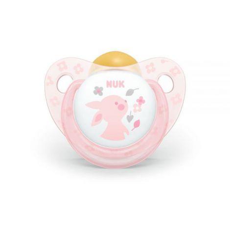 Suzeta Nuk Baby Rose Latex M2 Iepuras 6-18 luni