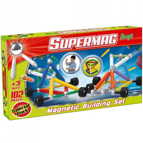 Supermag Maxi Wheels - Set Constructie 102 Piese imagine