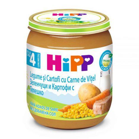 Meniu Hipp vitel cu legume si cartofi 125 gr