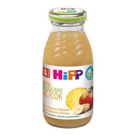 Suc Hipp de mere banana si ananas