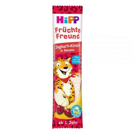 Gustare din cereale si fructe HiPP - iaurt, cirese si banana 23 g