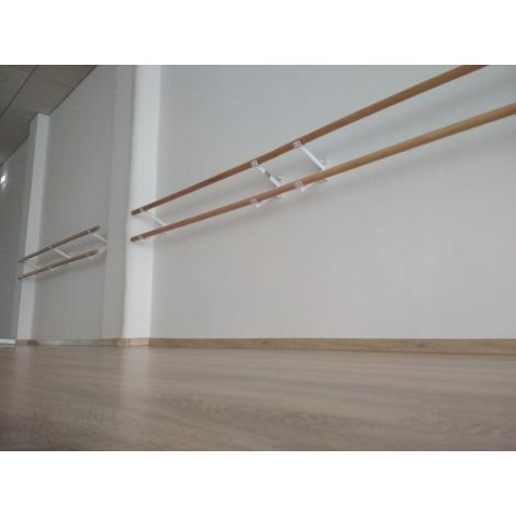 Bara balet dubla, cu suporti perete dubli, 2.5 m lungime