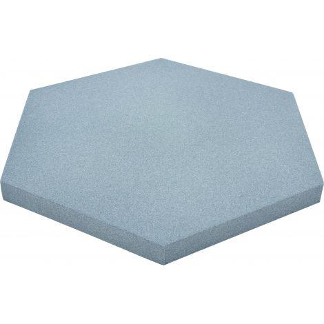 Panou hexagonal albastru foggy 20 mm pentru reducerea zgomotului in clasa