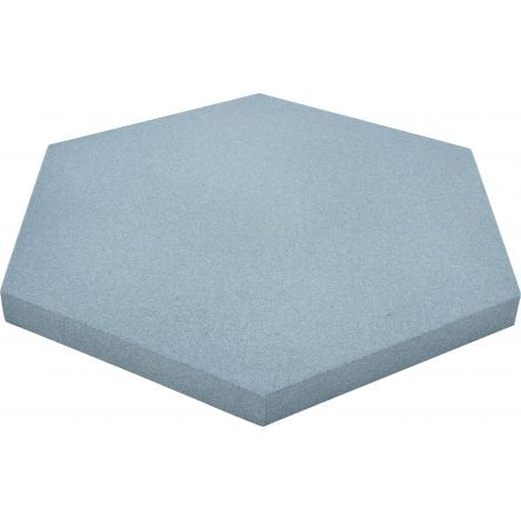 Panou hexagonal albastru foggy 50 mm pentru reducerea zgomotului in clasa