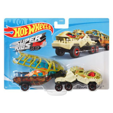 Set Camion Si Masina Sport Hot Wheels Fossil Night imagine