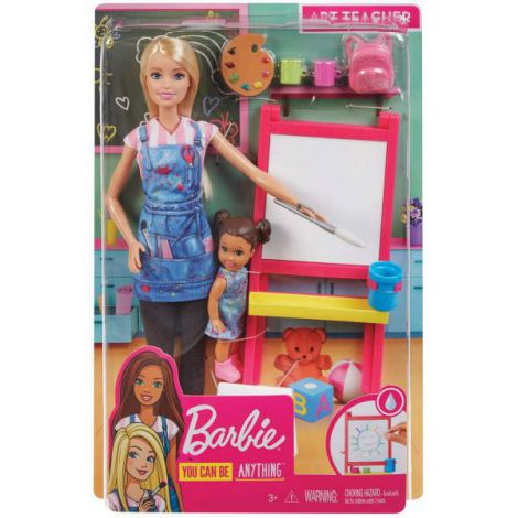Barbie Cariere Set Mobilier Cu Papusa Profesoara De Pictura