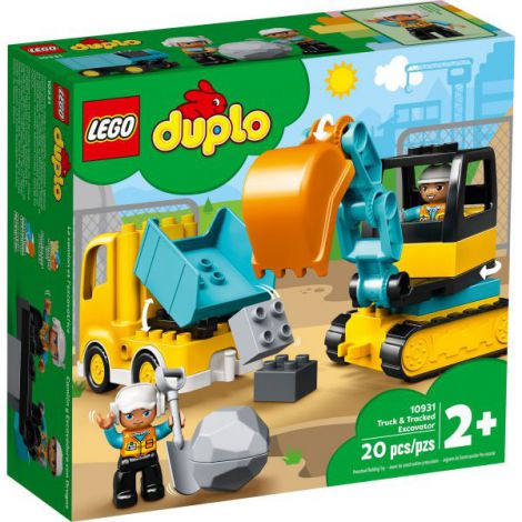 Lego Duplo Camion Si Excavator Pe Senile 10931