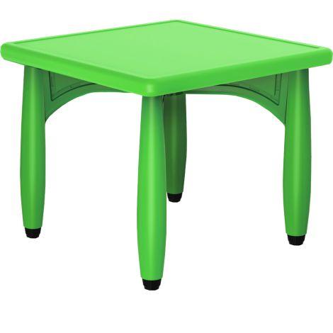 Masa verde patrata din plastic masura 2 pentru gradinita