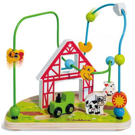 Jucarie Eichhorn Bead Maze Farm imagine