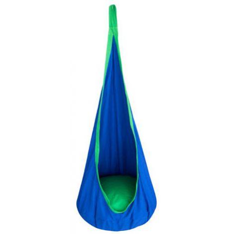 Leagan hamac PP albastru cu sistem de prindere inclus