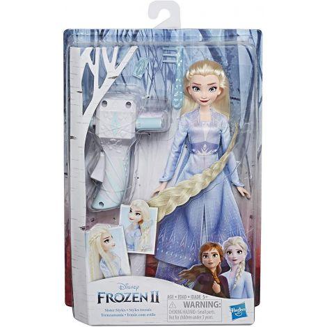 Papusa Frozen2 Elsa Cu Par Lung Pentru Impletit imagine