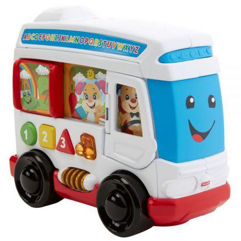 Jucarie Fisher Price By Mattel Laugh And Learn Autobuzul Cu Sunete In Limba Romana imagine