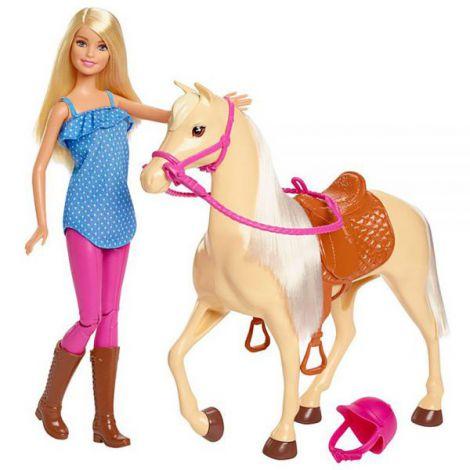 Set Barbie by Mattel Family Pets papusa cu cal