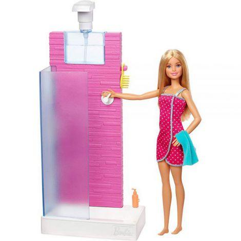 Set Barbie by Mattel Estate cabina dus cu papusa si accesorii