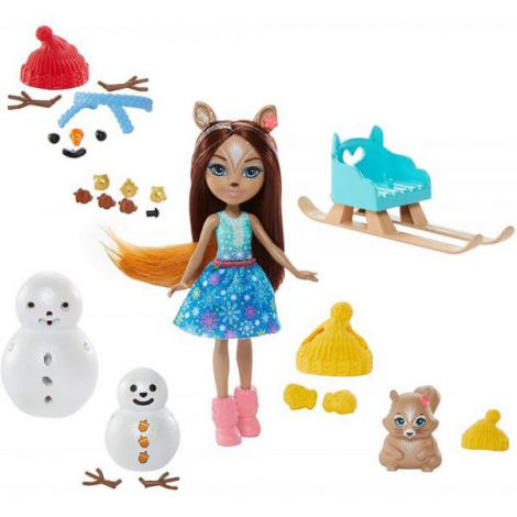 Set Enchantimals By Mattel Papusa Sharlotte Squirrel, Figurina Peanut Si Accesorii imagine