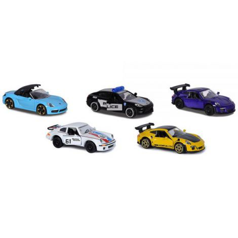 Set Majorette 5 masinute Porsche Premium Cars