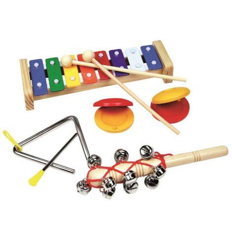 Set 4 Instrumente Muzicale Cu Xilofon imagine
