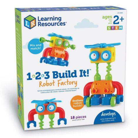 Hai sa construim - 1, 2, 3 robotel colorat