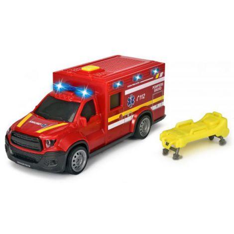 Masina ambulanta Dickie Toys City Ambulance SMURD cu accesorii