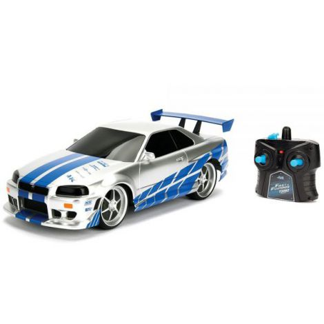 Masina Jada Toys Fast And Furious Nissan Skyline Gtr 1:24 Cu Telecomanda imagine